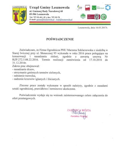 Urząd Gminy Lesznowola /2017/