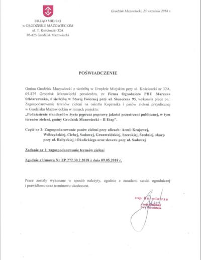 Urząd Miejski wGrodzisku Mazowieckim /2018/