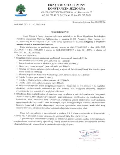 Urząd Miasta iGminy KONSTANCIN - JEZIORNA /2018/