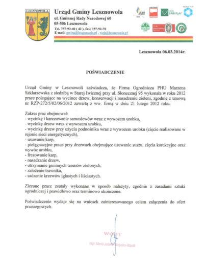 Urząd Gminy Lesznowola /2014/