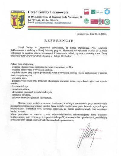 Urząd Gminy Lesznowola /2012/