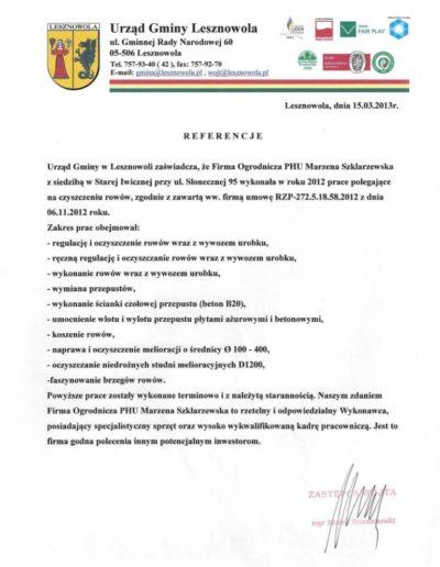 Urząd Gminy Lesznowola /2013/